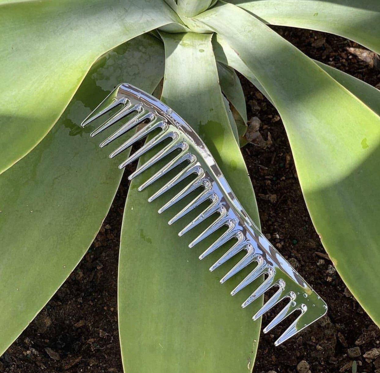 Серебряный гребень для волос Janeke Silver Wavy Comb