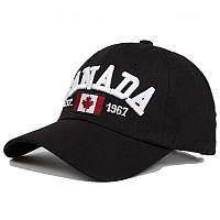 Кепка бейсболка Canada Черная, Унисекс, фото 1