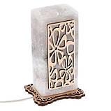 Соляной светильник Прямоугольник узор Ромашки, фото 3