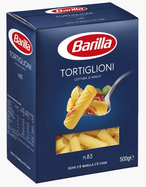Макарони BARILLA 83 TORTIGLIONI труби, 500гр