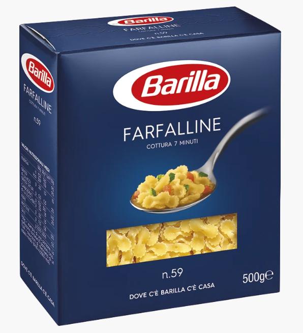Макарони BARILLA 59 FARFALLINE бантики, 500гр