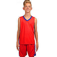 Форма баскетбольная детская Lingo, PL, р-р 4XS-M, рост 120-165см, красный (LD-8018T-(rd))