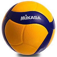М'яч волейбольний клеєний mikasa (PU, №5, 5 сл., клеєний), фото 1