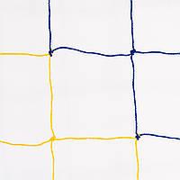 Сетка оградительная D 2,5 мм, ячейка 12 см, желто-голубая для Республики Казахстан