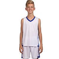 Форма баскетбольная детская Lingo, PL, р-р 4XS-M, рост 120-165см, белый (LD-8018T-(wt))