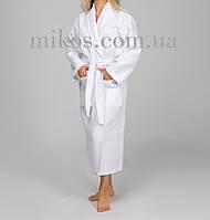 Женский халат XXL, вафельный,белый,100% хлопок