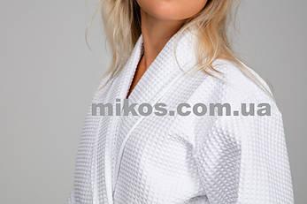 Женский халат XXL, вафельный,белый,100% хлопок, фото 2