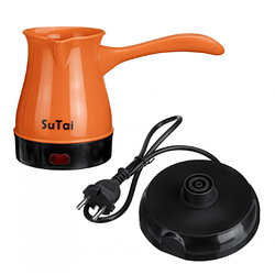 Кофеварка электрическая турка SuTai 168 600W 0.5л оранжевая
