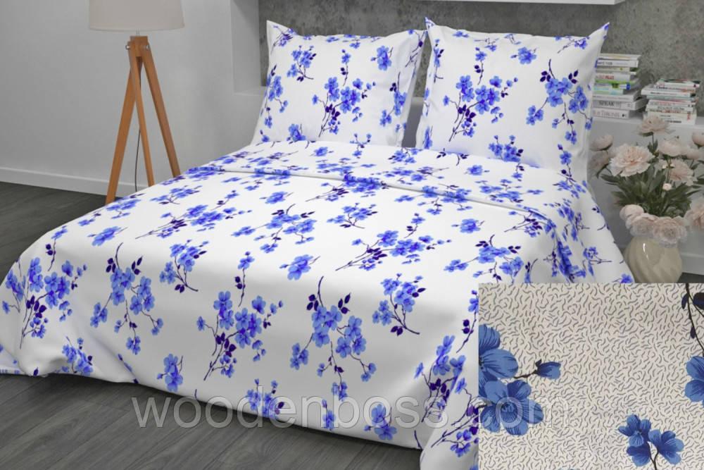 """Комплект постельного белья """"Цветение синий"""", бязь"""