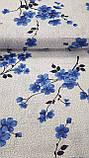 """Комплект постельного белья """"Цветение синий"""", бязь, фото 3"""
