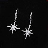 Серебряные сережки «Путеводная звезда»