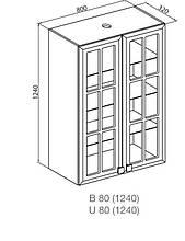 Кухонный модуль Мишель В 80 Пенал СК