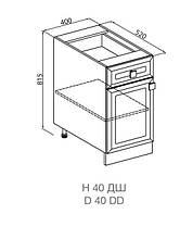 Кухонный модуль Мишель Н 40 ДШ