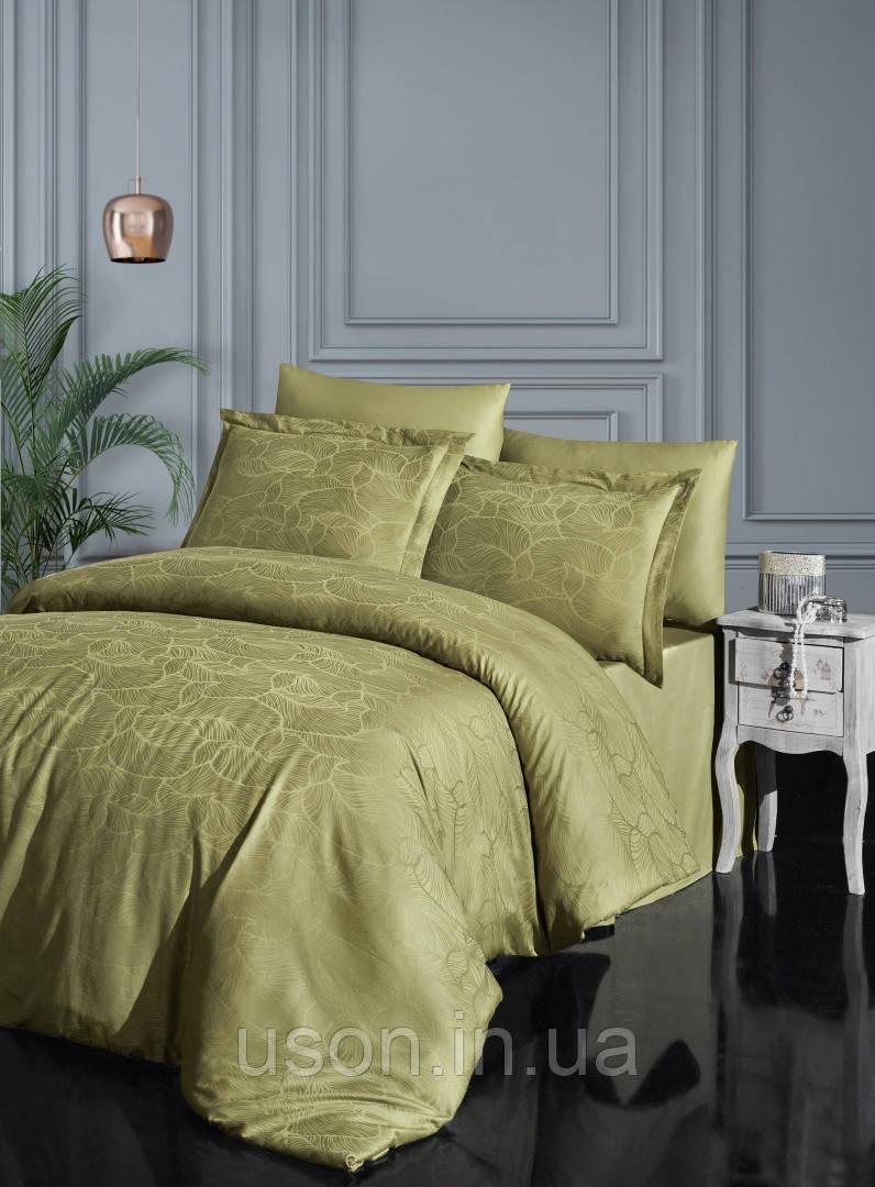 Комплект  постельного белья  жаккард superior bamboo TM First Choice  200*220 Sasha z.yesil
