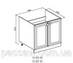 Кухонный модуль Мишель Н 80 Мойка