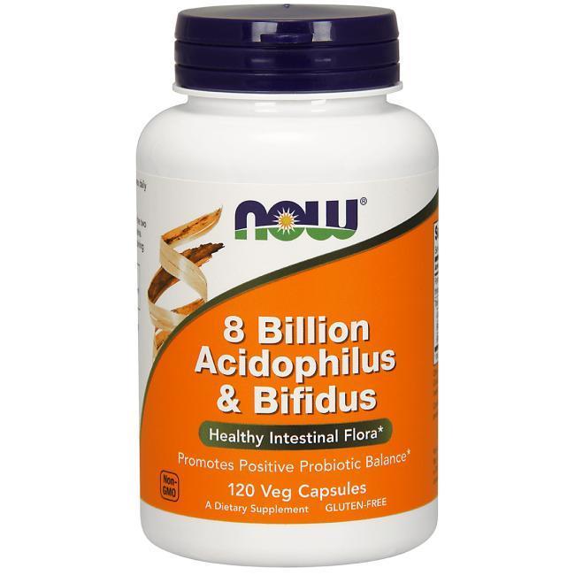 Пробіотики Now Foods 8 Billion Acidophilus & Bifidus 120caps