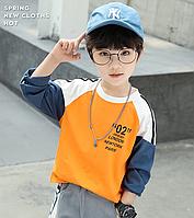 Кофта для хлопчиків / детская одежда мальчиков футболка с длинными рукавами детская рубашка