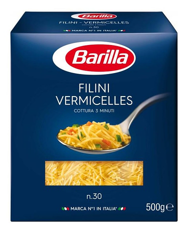 Макарони BARILLA 30 FILINI VERMICELLES 500гр, фото 2