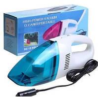 Мощный и компактный автомобильный пылесос High-power Portable Vacuum Cleaner 60W 12V от прикуривателя