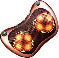 Роликовая массажная подушка с инфракрасным прогревом Massage Pillow на аккумуляторе