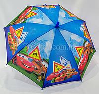 Зонтик детский для мальчика с машинками на 4-8 лет., фото 1