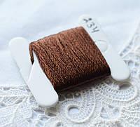 Мулине имитация шелка, 4м, 6 сложений, кофейный