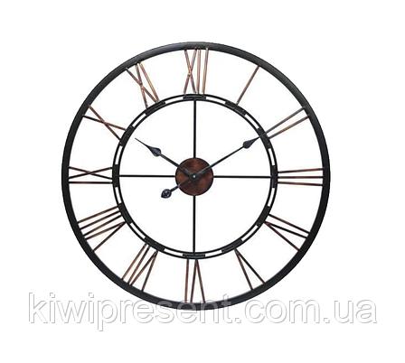 """Настенные часы из металла  """"Колесо..."""" (90 см). Стильные классические часы на стену большого размера., фото 2"""