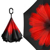Зонт наоборот Up-Brella, ветрозащитный зонт обратного сложения, зонт антиветер, цвета в наличии, фото 1