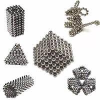 Неокуб Магнитный конструктор Neocube (серебро) 5 мм, интерактивная игрушка, нео куб, магнитные шарики, неодим, фото 1