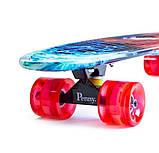 "Скейт скейтборд пенни борд Nickel 27"" светящиеся колеса fire & ice, фото 2"