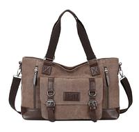 Велика чоловіча сумка коричнева мішковина ( код: С452 ), фото 1
