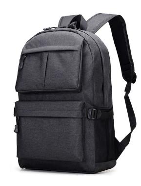 Рюкзак чорний з кишенями ( код: R458 )