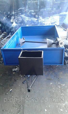 Прицеп самосвал для мотоблока 180х115 с дисковыми тормозами Фермер, фото 2