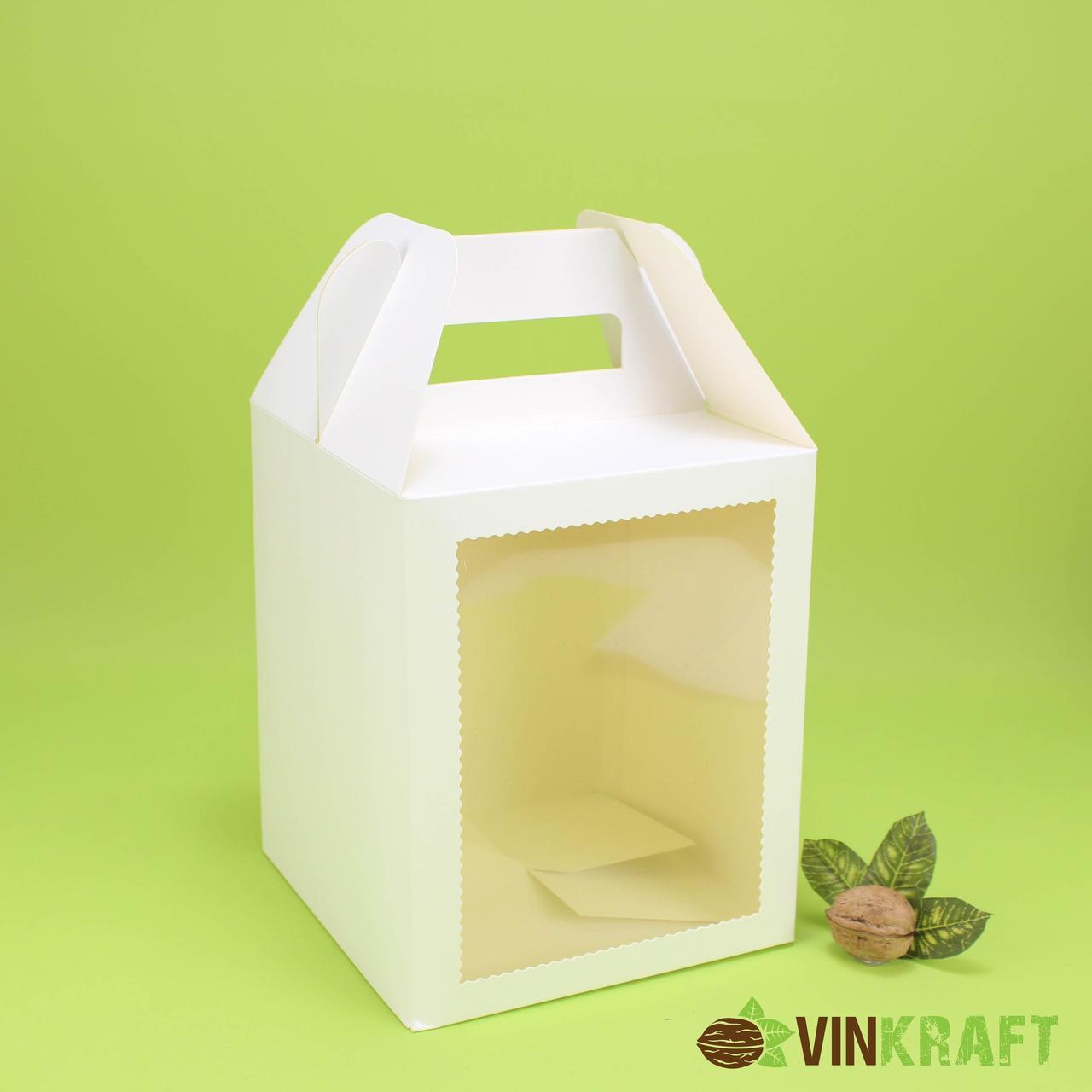Коробка 165*165*200  з вікном, біла