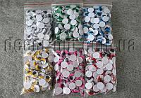 Глазки цветные с ресничками 15 мм 100 шт.