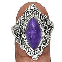 Серебряное кольцо с чароитом, 1395КЧ