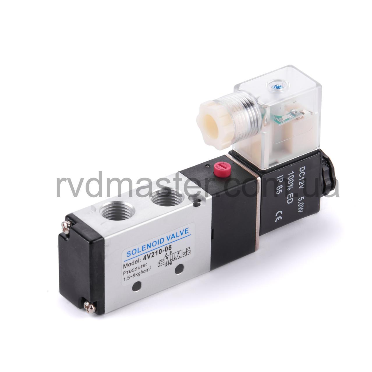 Пневморозподілювач 4V210-06-24V (Сх. 5/2), з електромагнітним управлінням