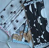 Защитная Многоразовая Двухслойная Маска для Детей с интересным принтом 100% Хлопок, фото 6