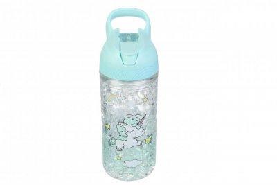 Детская бутылочка голубая Единорог