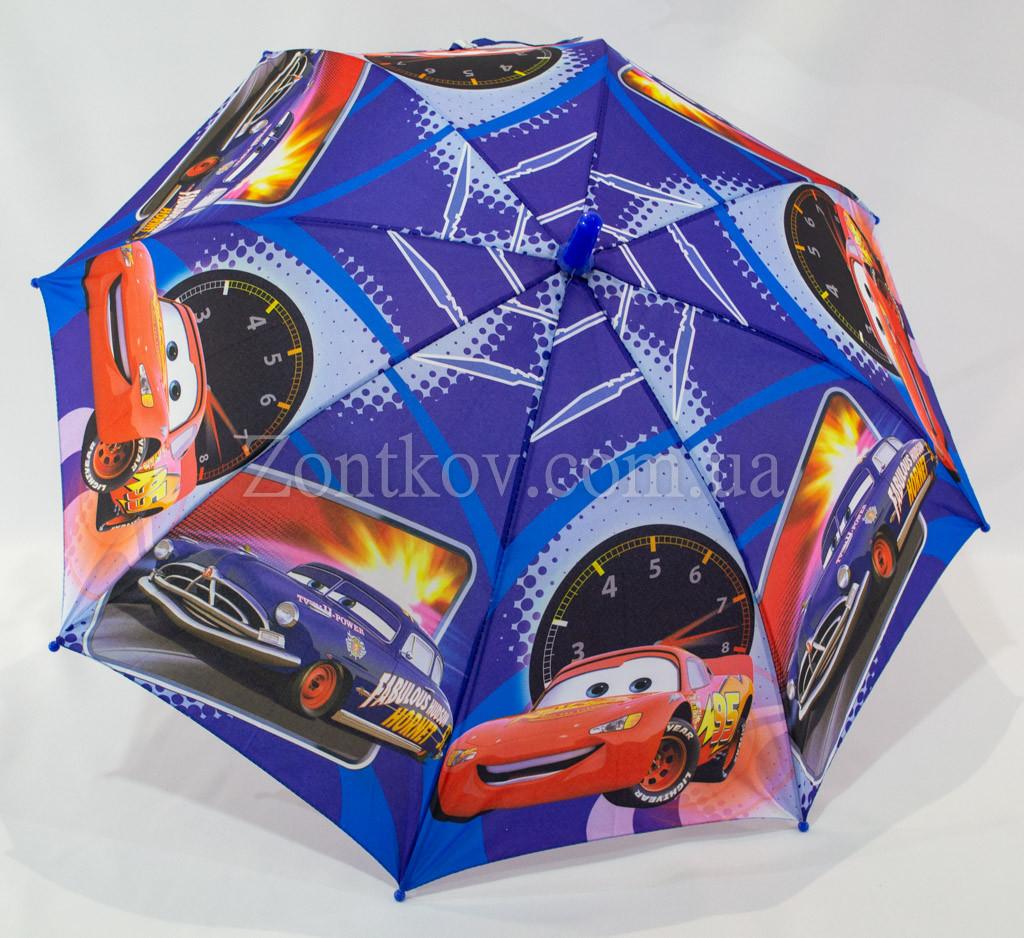 Зонтик детский для мальчика с машинками на 4-8 лет.