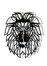 """Настенные часы лев  """"Аслан"""" (черный мат), фото 2"""