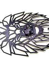 """Настенные часы лев  """"Аслан"""" (черный мат), фото 3"""
