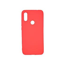 Чехол накладка для Xiaomi Redmi 7 силиконовый матовый, Fresh Series, Красный