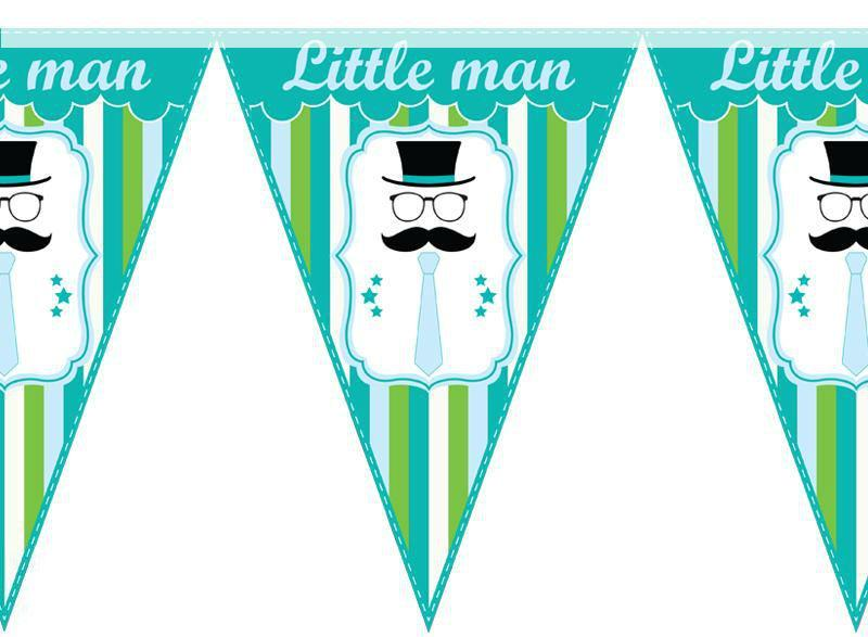 Паперова гірлянда принт little man