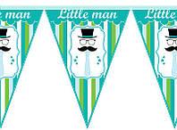 Паперова гірлянда зелений принт little man