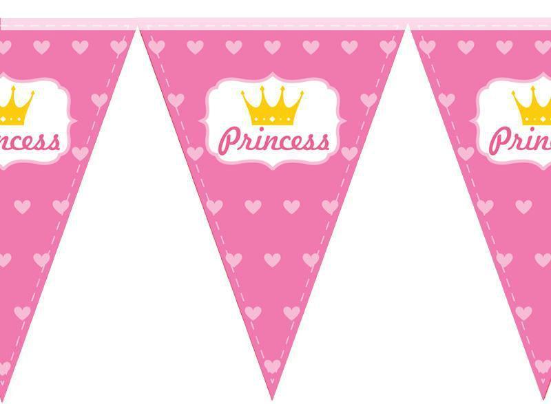 Паперова гірлянда принт princess