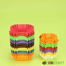 Квадратные бумажные формы для конфет, пастилы