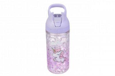 Детская бутылочка фиолетовая Единорог