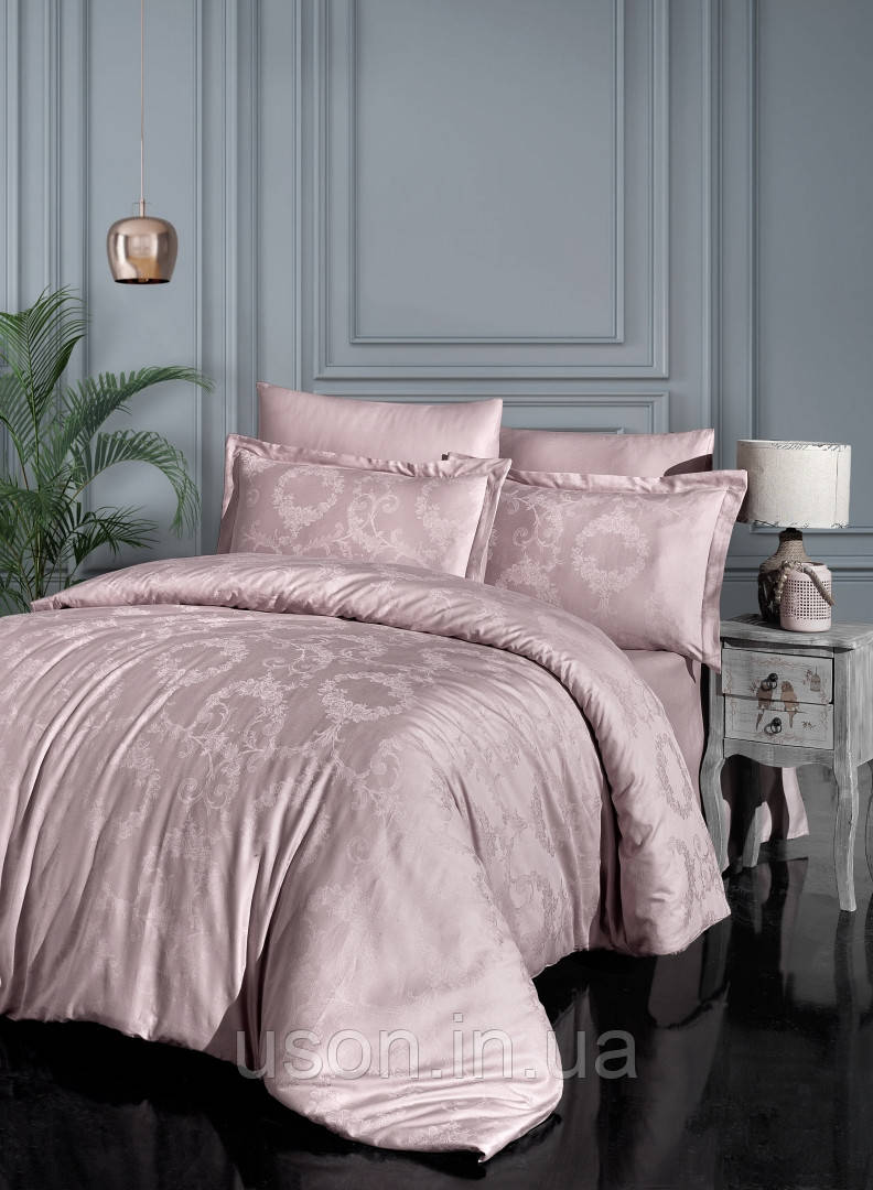 Комплект  постельного белья  жаккард superior modal  TM First Choice  200*220 Linda pudra