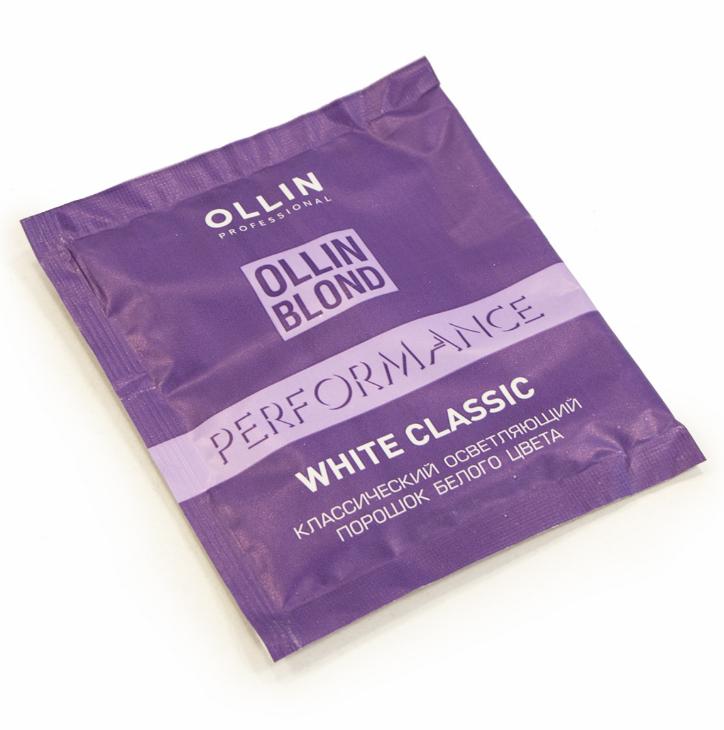 Осветляющий порошок 30 г, OLLIN Professional BLOND PERFOMANCE white blond powder